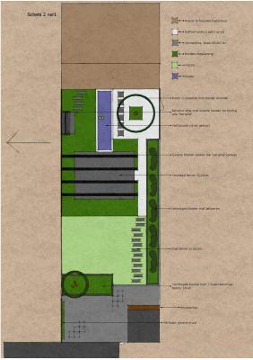 Panningen ontwerp achtertuin