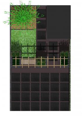 Middelharnis kleine achtertuin