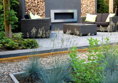 Strakke moderne tuin